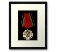 Soveiet Red Army Medal Framed Print