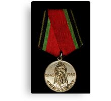 Soveiet Red Army Medal Canvas Print