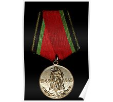 Soveiet Red Army Medal Poster