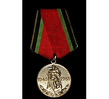 Soveiet Red Army Medal Photographic Print
