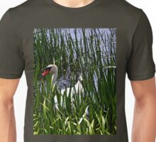 A Male Swan in River grasses Unisex T-Shirt
