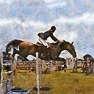 horsejumping  by cynthiab