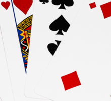 Poker Hands - One Pair - Aces Sticker