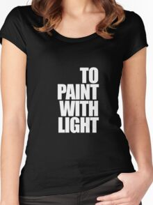 Paint with light Women's Fitted Scoop T-Shirt