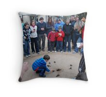 Yabby Races Throw Pillow