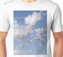 Tall grass and blue sky Unisex T-Shirt