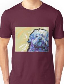 Havanese Dog Bright colorful pop dog art Unisex T-Shirt