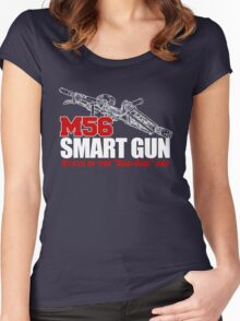M56 Smartgun State of the Bad Ass Art Women's Fitted Scoop T-Shirt