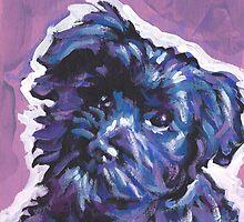 Havanese Dog Bright colorful pop dog art by bentnotbroken11