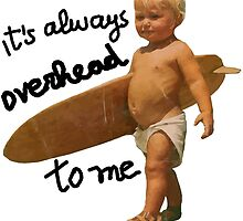 It's always overhead to me - SurferMagazine Baby by notonlywaves
