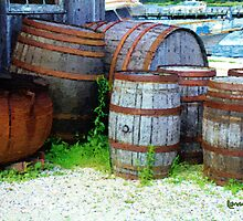 Still Life with Barrels by RC deWinter