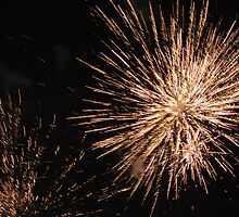 Fireworks at the show tonight by julie anne  grattan