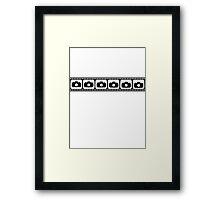 Film strip camera Framed Print