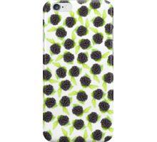 Black and green cute raspberries pattern iPhone Case/Skin