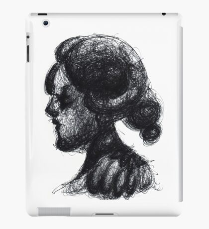 Ink Horned Fantasy Figure iPad Case/Skin