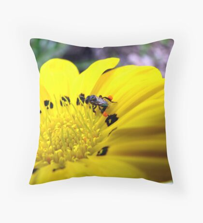 Australian Native Bee Throw Pillow