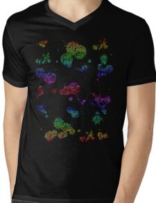 Splatter Mens V-Neck T-Shirt