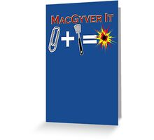 Paperclip Plus Spatula Equals Explosion Greeting Card