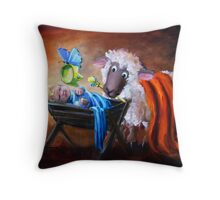 Welcoming the Real King Throw Pillow