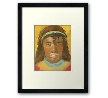 THE FACE OF STRENGTH Framed Print