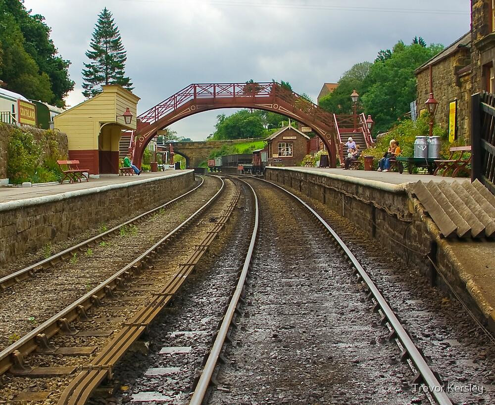 Foot Bridge at Goathland Station by Trevor Kersley