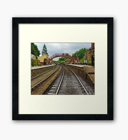 Foot Bridge at Goathland Station Framed Print