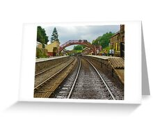 Foot Bridge at Goathland Station Greeting Card
