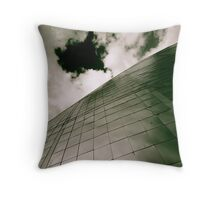 monochrome science centre Throw Pillow