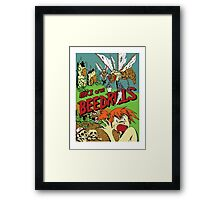 Attack of the Bedrills Framed Print