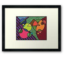 geometric fun land Framed Print