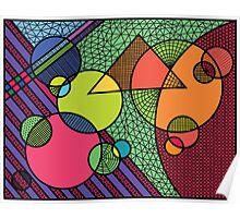 geometric fun land Poster