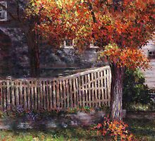 Dappled Fence by Susan Savad