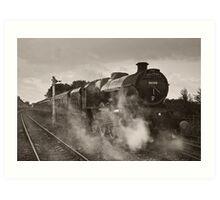 'Leander' at Hellifield station Art Print