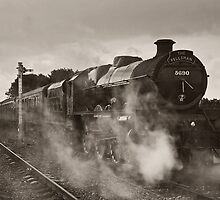 'Leander' at Hellifield station by Steve  Liptrot