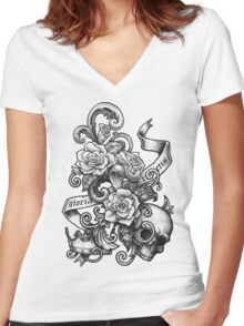 Gloria Invictis Women's Fitted V-Neck T-Shirt