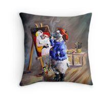 Picasso Sheep Throw Pillow