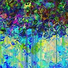 Sudden Rain And My Blues abstract by Wendy J. St. Christopher