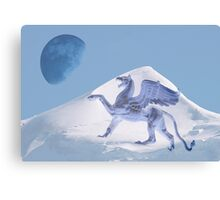 Shouting the blue moon Canvas Print