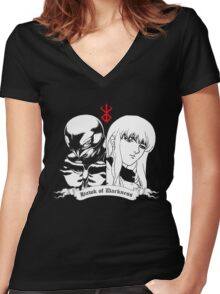 Griffith - Hawk of Darkness (2 colours) Women's Fitted V-Neck T-Shirt