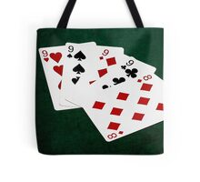 Poker Hands - Four Of A Kind - Nines and Eight Tote Bag