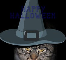 Happy Halloween Kitty Card by Jonice