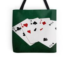 Poker Hands - Four Of A Kind - Sevens and Two Tote Bag