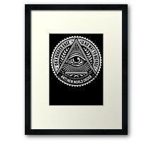 Anti New World order - On A Bended Knee Is No Way To Be Free Framed Print