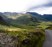 The Great Langdale valley by Paul Messenger