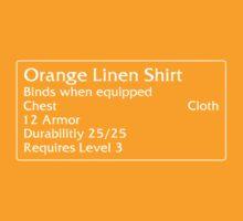 Orange Linen Shirt by DPSmachine
