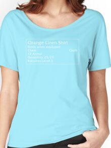 Orange Linen Shirt Women's Relaxed Fit T-Shirt