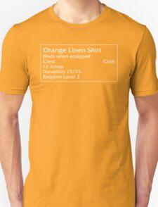 Orange Linen Shirt T-Shirt
