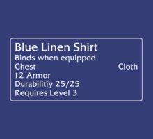 Blue Linen Shirt by DPSmachine