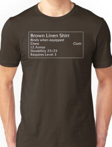 Brown Linen Shirt Unisex T-Shirt