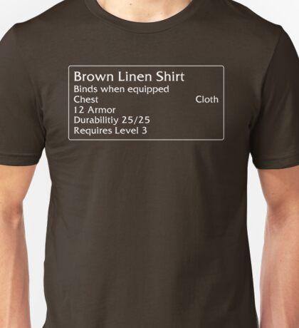 Brown Linen Shirt Unisex T-Shirt